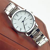 billige -Par Armbåndsur Quartz Rustfrit stål Hvid Hot Salg Analog Damer Afslappet Mode - Hvid Sort