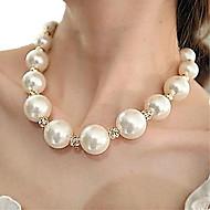 Κολιέ Σκέλη Κολιέ / Coliere cu Perle Κοσμήματα Πάρτι / Καθημερινά / Causal Μοντέρνα Μαργαριτάρι / Κράμα Ασημί 1set Δώρο