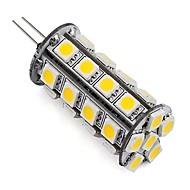 billige LED-lamper med G-sokkel-4W G4 LED-lamper med G-sokkel Tube 30 SMD 5050 360 lm Varm hvid Kold hvid Justérbar lysstyrke Dekorativ DC 12 V 1 stk.