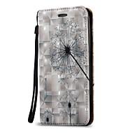 お買い得  携帯電話ケース-ケース 用途 Samsung Galaxy J7(2016年) J5 (2016) カードホルダー ウォレット フリップ フルボディーケース タンポポ ハード PUレザー のために On 5 J7 (2016) J7 J5 (2016) J5 J3 (2016) J3 J1