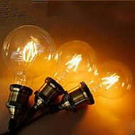 abordables Bombillas LED de Globo-lm E26/E27 Bombillas LED de Globo leds LED Integrado Decorativa Blanco Cálido Amarillo