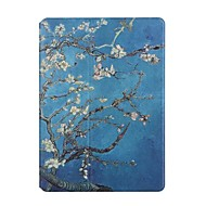 cheap iPad  Cases / Covers-For Apple iPad Air2 Air Case Cover Apricot Flowers Pattern PU Leather Stent Flat Shell