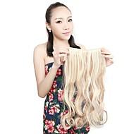 """neitsi® 1шт 110g 22 """"3/4 5clips голова KANEKALON синтетические оплетки волос штук клип в / на волнистых расширений f18-613 #"""