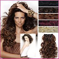 20-дюймовый длинные волосы кусок вьющиеся волны жаропрочные синтетика расширения натуральных волос