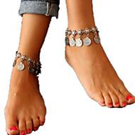 billiga -Dam Ankelkedja Statement Tofs Europeisk Mode Ankelkedja Smycken Silver Till Dagligen