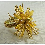 Dikdörtgen Desenli / Geometrik / Tatil Peçete Yüzüğü , alaşım MalzemeOtel Yemek Masası / Düğün Dekorasyon / Düğün Ziyafet Yemeği / Noel