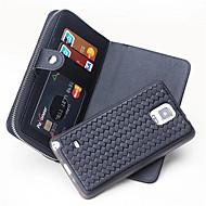 Для Кошелек / Бумажник для карт Кейс для Чехол Кейс для Один цвет Твердый Натуральная кожа для Samsung Note 5 / Note 4