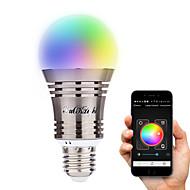 저렴한 -YouOKLight 6.5W 500-550 lm E26/E27 LED 스마트 전구 A60(A19) 8 LED가 고성능 LED 블루투스 장식 따뜻한 화이트 차가운 화이트 내추럴 화이트 RGB AC 100-240V