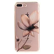 Недорогие Кейсы для iPhone 8 Plus-Кейс для Назначение Apple iPhone 8 / iPhone 8 Plus IMD / Прозрачный / С узором Кейс на заднюю панель Цветы Мягкий ТПУ для iPhone 8 Pluss / iPhone 8 / iPhone 7 Plus