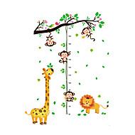 애니멀 보태니컬 패션 벽 스티커 플레인 월스티커 데코레이티브 월 스티커 하이트 스티커,비닐 자료 물 세탁 가능 이동가능 재부착가능 홈 장식 벽 데칼