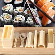 olcso -sushi főzés szerszámok diy 10 db sushi készítő sushi tekercs eszközök rizsgolyó penész