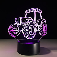 1PC Tractor Colorful Vision Stereo Led Lamp 3D Lamp Light Colorful Gradient Acrylic Lamp Night Light Vision