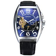 abordables Relojes Deportivos-Mujer Reloj Deportivo Reloj de Vestir Reloj de Moda Cuerda Automática Calendario Esfera Grande Cuero Auténtico Banda Cosecha Casual