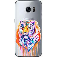 Недорогие Чехлы и кейсы для Galaxy S6 Edge Plus-Кейс для Назначение SSamsung Galaxy S7 edge S7 Ультратонкий Прозрачный С узором Кейс на заднюю панель Соблазнительная девушка Мягкий ТПУ
