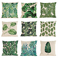 abordables Textiles para el Hogar-9 PC Lino Funda de almohada Cobertor de Cojín, Un Color Con Texturas Casual Tropical Estilo playero Tradicional/Clásico
