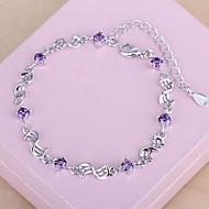 abordables Argent Sterling-Chaînes & Bracelets - Argent sterling Mode Bracelet Argent Pour Cadeau