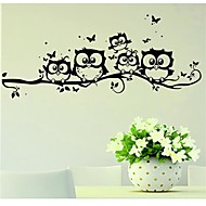 preiswerte -Tiere Wand-Sticker Flugzeug-Wand Sticker Dekorative Wand Sticker, Vinyl Haus Dekoration Wandtattoo Wand Glas / Badezimmer
