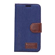 olcso Mobiltelefon tokok-Mert Kártyatartó Állvánnyal Flip Case Teljes védelem Case Egyszínű Kemény Műbőr mert HTC HTC One M9 HTC One M8