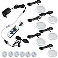 お買い得  -6本3ワット調光可能な暖かい白/クールホワイトキャビネットライトの下で導いた85-265v