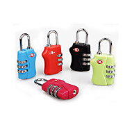 preiswerte Alles fürs Reisen-Codierte Verriegelung Koffer Accessoires für Unisex Codierte Verriegelung Koffer Accessoires Aleación-Schwarz Orange Rose Hellblau