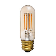 cheap LED Filament Bulbs-1pc 3.5W 300 lm E26 LED Filament Bulbs T 4 leds COB Dimmable Decorative Amber 2200K AC 110-130V
