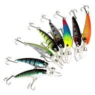 お買い得  釣り用アクセサリー-8 個 ハードベイト ミノウ ルアー ミノウ ハードベイト 硬質プラスチック 海釣り ベイトキャスティング スピニング ジギング 川釣り その他 流し釣り/船釣り 一般的な釣り ルアー釣り バス釣り