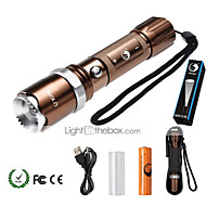 U'King Linternas LED Kits de Linternas LED 2000 lm 5 Modo Cree XM-L T6 Enfoque Ajustable Regulable Zoomable para