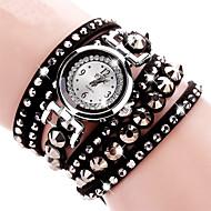 voordelige Bohémien horloges-Dames Kinderen Dress horloge Modieus horloge Polshorloge Armbandhorloge Gesimuleerd Diamant Horloge imitatie Diamond Kwarts Stof Band