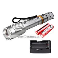 U'King LED Taschenlampen LED 2000 lm 5 Modus Cree XM-L T6 inklusive Batterien und Ladegerät Zoomable- einstellbarer Fokus Camping /