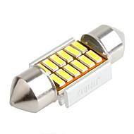 ziqiao 31mm 12 smd iç ampuller fisto 4014 canbus araba led (12v / 2 adet)