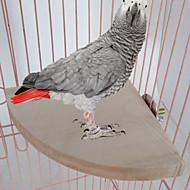 طائر مجاثم وسلالم خشب البيج