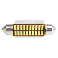 ziqiao 41mm 20 smd iç ampuller fisto 4014 canbus araba led (12v / 2 adet)