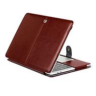 お買い得  MacBook 用ケース/バッグ/スリーブ-MacBook ケース ソリッド PUレザー のために MacBook Pro Retinaディスプレイ15インチ / MacBook Pro Retinaディスプレイ13インチ