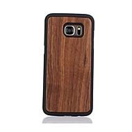 Недорогие Чехлы и кейсы для Galaxy S7 Edge-Кейс для Назначение SSamsung Galaxy S7 edge S7 С узором Кейс на заднюю панель Сплошной цвет Твердый деревянный для S7 edge S7