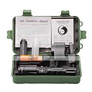 U'King LED-Ficklampor LED 2000 LM 4.0 Läge Cree XM-L T6 med batteri och laddare Zoombar Justerbar fokus Camping/Vandring/Grottkrypning