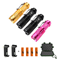 U'King LED Flashlights / Torch Flashlight Kits LED 1500 lm 3 Mode Cree XP-E R2 Adjustable Focus Zoomable for Camping/Hiking/Caving