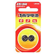 Nanfu AG13 mønt knapcelle alkalisk batteri 1.5V 140mah 2 pak
