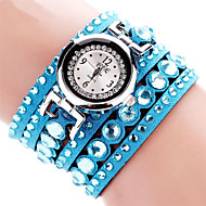 voordelige Bohémien horloges-Dames Kwarts Polshorloge / Armbandhorloge imitatie Diamond Stof Band Amulet / Glitter / Informeel / Bohémien / Modieus / Bangle Zwart /