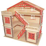 Χαμηλού Κόστους Παιχνίδια και Χόμπι-παζλ DIY Κιτ Τουβλάκια Παζλ 3D Εκπαιδευτικό παιχνίδι Παζλ Ξύλινα παζλ Δομικά στοιχεία DIY παιχνίδιαΤετράγωνο Διάσημο κτίριο Κινεζική