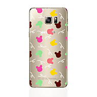 cheap Cases / Covers for Samsung-Case For Samsung Galaxy S7 edge S7 Transparent Pattern Back Cover Animal Soft TPU for S7 edge S7 S6 edge plus S6 edge S6 S5 S4