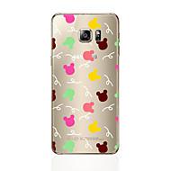 お買い得  携帯電話ケース-ケース 用途 Samsung Galaxy S7 edge / S7 クリア / パターン バックカバー 動物 ソフト TPU のために S7 edge / S7 / S6 edge plus