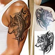 billiga Temporära tatueringar-1 pcs Tatueringsklistermärken tillfälliga tatueringar Totemserier / Djurserier / Art Deco / Retro Vattentät / 3D Body art Kropp / skuldra / Ben