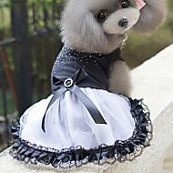 Kat Hond Jurken Hondenkleding Schattig Prinses WiZwart Kostuum Voor huisdieren