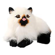 abordables Muñecas y Peluches-Gato Animales de peluche y de felpa Hecho a Mano natural Animales Clásico Felpa Chica Juguet Regalo