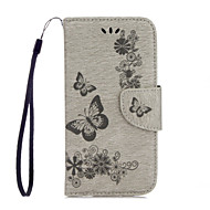Для Кошелек Бумажник для карт со стендом Флип Рельефный С узором Кейс для Чехол Кейс для Бабочка Твердый Искусственная кожа для Huawei