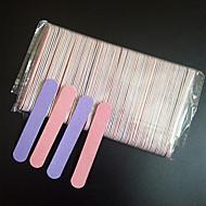 preiswerte -50 stücke doppel farbe 85mm nagelfeilen holz nagelfeile 180/240 wegwerf maniküre werkzeuge