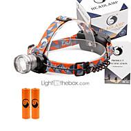 preiswerte Taschenlampen, Laternen & Lichter-U'King Stirnlampen Schweinwerfer 2000 lm 3 Modus LED inklusive Batterien Zoomable- einstellbarer Fokus Kompakte Größe Einfach zu tragen