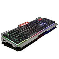 USB πληκτρολόγιο Gaming εργονομικό πληκτρολόγιο πληκτρολόγιο πολυμέσων USB Multi χρώμα backlight #