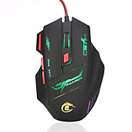 voordelige -HXSJ brand High-end optical professional gaming mouse with 7 bright colors LED backlit and ergonomics design for comfortable touch,