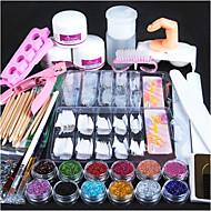 1set Engomada del arte del clavo Guía de Consejos francés maquillaje cosmético Dise?o de manicura